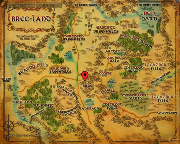 Map of Bree-land